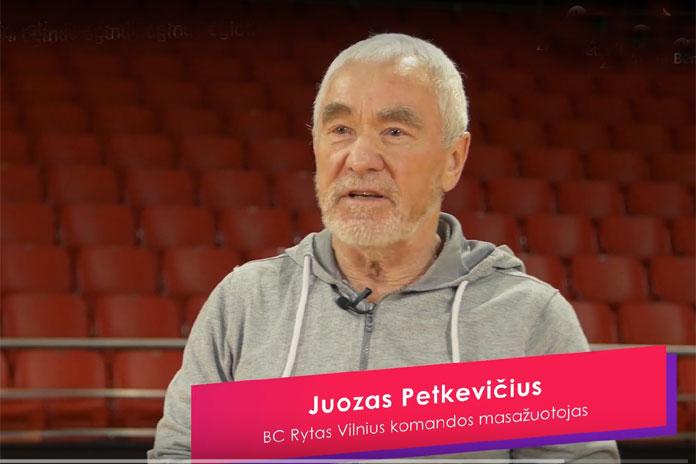 """Vilniaus """"Ryto"""" krepšinio klubo fizioterapeutas Juozas Petkevičius."""